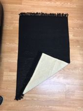 Black Pray mat with mosque design ( 100% wool ) Ideal gift ( Islamic Prayer ) x1